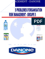 Danone - Risk Management- Groupe 5 - FINAL