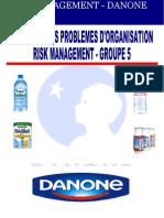Danone - Risk Management- Groupe 5 - FINAL