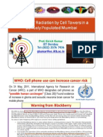 Mobile Tower Radiation Danger and Solutions Proposed to Government - Prof. Girish Kumar - May 2012