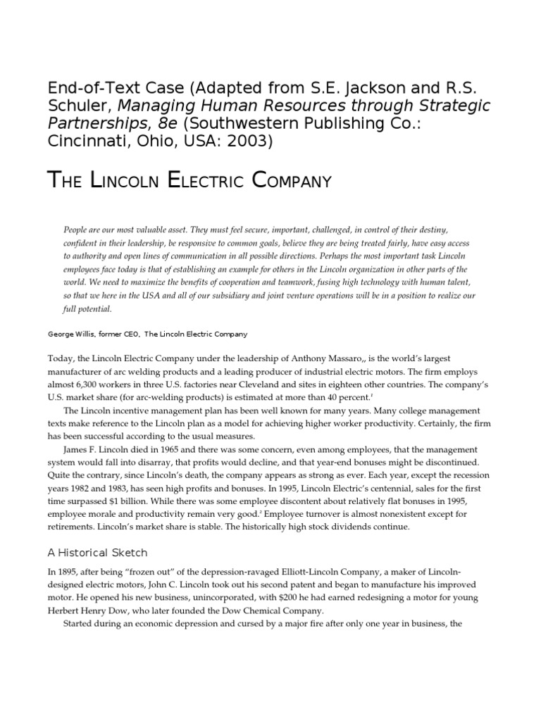 lincoln electric international expansion