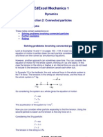 Me Mechanics Notes - Dynamics - Connected Particles
