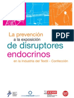 La prevención a la exposición de disruptores endocrino  en la Industria del Textil - Confección