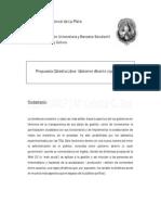 Propuesta Cátedra Libre Gobierno Abierto (UNLP)
