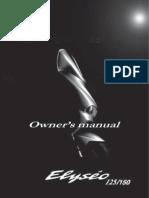 Peugeot Elyseo 125-150- Manuale d'Uso (English)