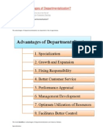 What Are Advantages of Departmentalization