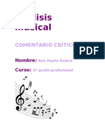 Analisis Musical Trabajo