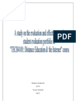 15197598 Study on Evaluation of Onlione Learning
