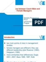 Differences Between Male and Female Managers_Pauknerova