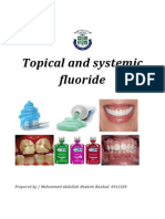 Topical and Systemic Fluoride