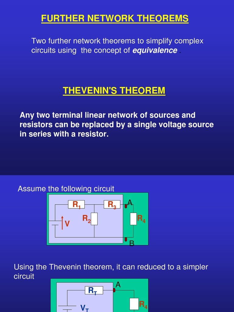 Between The Open Terminals Of The Thevenin S Equivalent Circuit