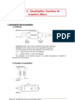 04 Quadripôles, fonctions de transfert, filtres
