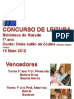 EB1 Sobral Concurso de Leitura Murado 1º ano 2012