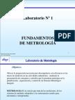 UNEXPO Lab. Tema 1 Fundamentos de La Metrologia