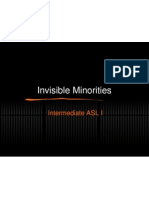 invisible minorities - presentation