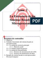 Tema2 Estructura Sistemas Basados en Microprocesador