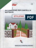 Manuale Installazione Motostar Stylstar 119D7161-IT