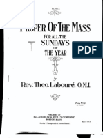 Latin Mass Propers by Laboure- 1922