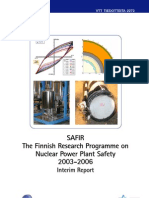 SAFIRThe Finnish Research Programme OnNuclear Power Plant Safety2003-2006Interim Report