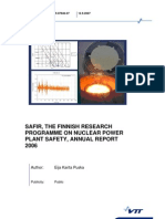 Safir, The Finnish Research Programme on Nuclear Power Plant Safety, Annual Report 2006