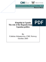 Role of Kingship in Ugandan Poitics