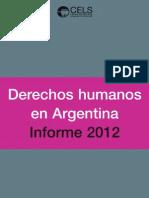 informe CELS DDHH Argentina 2012