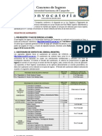Convocatoria Nuevo Ingreso 2012-2013 UAC