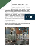 Mantenimiento a subestaciones eléctricas Vitro S