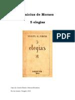Vinícius de Moraes - 5 Elegias