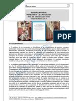 132. PROBLEMA DE LOS UNIVERSALES. EDAD MEDIA Y AUTORES POSTERIORES