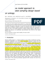 A State-space Model Approach to Optimum Spatial Sampling Design Based on Entropy
