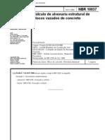 NBR 10837 - NB 1228 - Calculo de Alvenaria Estrutural de Blocos Vazados de Concreto