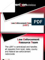 Verizon Law Enforcement Resource Team