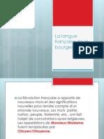 La langue française de la bourgeoisie