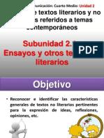 Situacion Enunciativa de Otros Textos y Ensayo