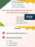 1. Đại cương về quá trình sản xuất xút – Clo, phân tích muối nguyên liệu