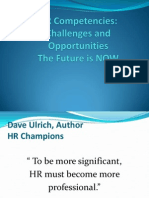 HR Competencies Challanges and Opportunities
