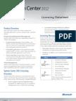 System Center 2012 Licensing Datasheet