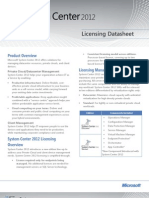 System Center 2012 Licensing Datasheet