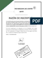 """INSCRIPCIÃ""""N REGISTRO MERCANTIL"""