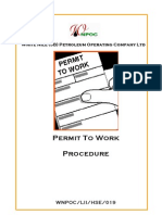 019 - Permit to Work