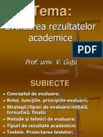 evaluarea rezultatelor academice