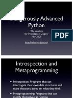 Dangerously Advanced Python