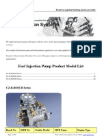 Fuel Injection Pump Product Model List