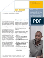 Solution Brief SAP Business Objects Business Intelligence