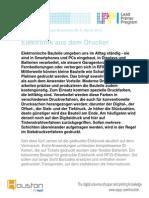 Elektronik Aus Dem Drucker