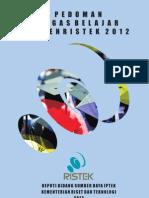 Buku Panduan Beasiswa Ristek Tahun 2012