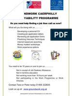 Groundwork Caerphilly Employability Programme