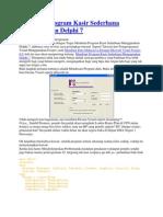 Membuat Program Kasir Sederhana Menggunakan Delphi 7