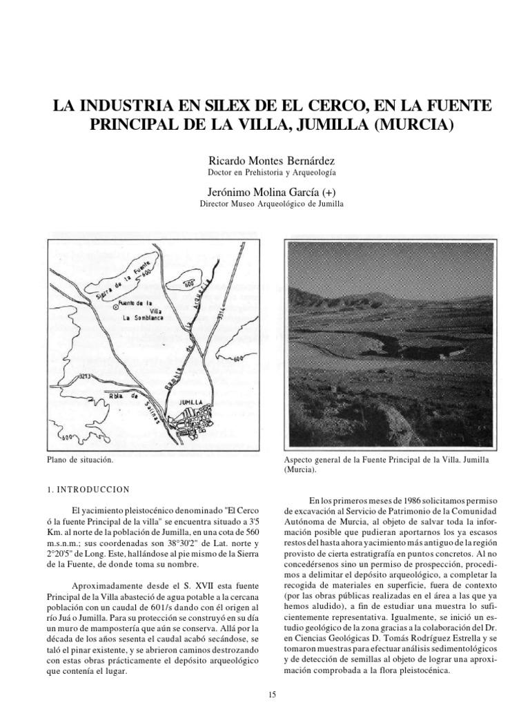 La Industria De Silex De El Cerco En La Fuente Principal De La  # Muebles Ricardo Montes