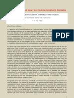 46eme Journee Mondiale Des Communications Sociales